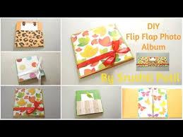 Flip Photo Album Diy Flip Flap Mini Photo Album Tutorial By Srushti Patil Card