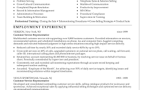 resume awesome resume example for customer service functional