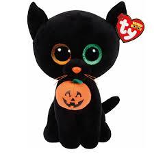 ty beanie boos medium shadow cat plush toy claire u0027s