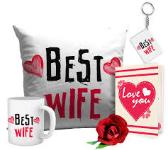 Best Gift For Wife 2017 Romantic Valentines Gifts Best Wife Gift Combo Cushion Coffee Mug
