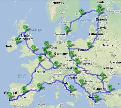 Trains In Europe Map by Backpack Europe In 3 Months Aim To Travel Blog Good Points