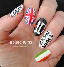 tutorial nail art one direction one direction nail art 1d nails