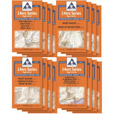 Colorado 14er Map by Amazon Com Colorado 14ers Complete 16 Map Pack All 58 Colorado