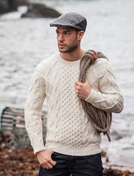 fisherman sweater cable knit sweater men aran sweater market