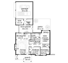 What Is Wic In Floor Plan Craftsman Style House Plan 3 Beds 2 00 Baths 1292 Sq Ft Plan 45 374
