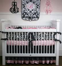 baby bedding crib set damask light pink satin reserved for
