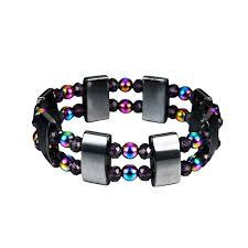 magnetic stone bracelet images 1pc weight loss round black stone magnetic therapy bracelet health jpg