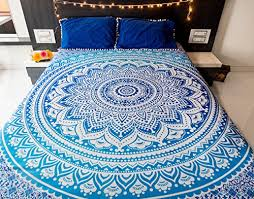 mandala tapestry bedding with pillow covers indian bohemian