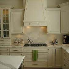 Granite Countertops And Kitchen Tile Cream Kitchen Cabinets Design Ideas
