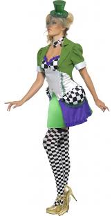 miss mad hatter fancy dress costume by smiffys 20907