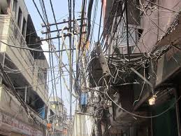 hensley electricity wires old delhi india