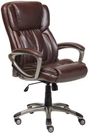 Executive Brown Leather Office Chairs True Innovations Simply Comfortable Bonded Leather Executive Chair