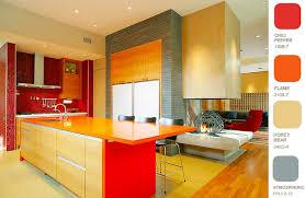 Red Colour Kitchen - red orange kitchen home design ideas murphysblackbartplayers com
