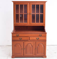 cherry buffet cabinet with hutch ebth