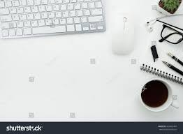 office desk table computer mouse keyboard stock photo 429065404