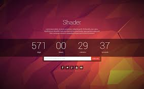 shader coming soon page bootstrap landing pages wrapbootstrap