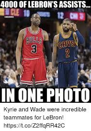 Nba Memes Lebron - 4000 of lebron s assists gull in one photo kyrie and wade were