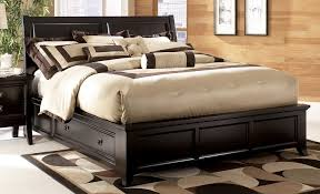 King Wood Bed Frame King Size Wooden Bed Frame With Storage And Solid Wood Wall Panels