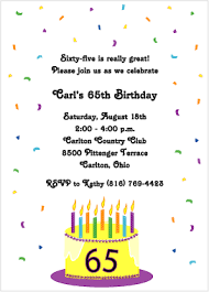 65th birthday invitations u2013 gangcraft net