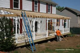 How To Build A Wood Awning Over A Deck How To Build A Porch Build A Front Porch Front Porch Addition