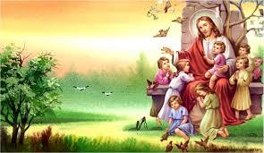 jesus and children wallpaper free here