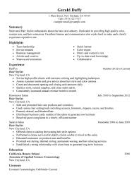 Beauty Therapist Resume Sample Best Hair Stylist Resume Example Livecareer