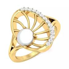 girls golden rings images On which finger should i wear pearl ring quora