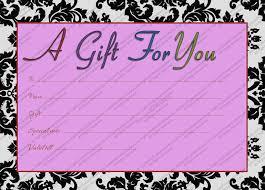 printable purple generic gift certificate gift certificate templates