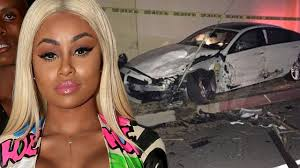 blac chyna car crash accident scene photos urban magazine