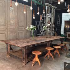 Primitive Dining Room Tables Huge Massive Primitive Table Espace Nord Ouest