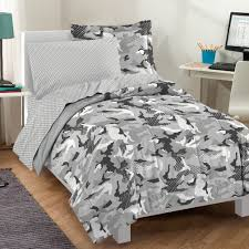 Army Bed Set Factory Casual Geo Camo Camouflage Comforter Set Grey