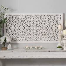 wood medallion wall awesome white wood wall decor with sculpture home decoration