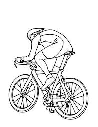 cycling athletes ride bicycle colouring page happy colouring