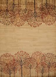 Nature Area Rugs Tree Blossom Area Rug 4 Sizes Runner Carved Nature Cabin