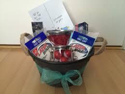 Fishing Gift Basket Monthaversary Gift I Made For My Boyfriend Fishing Gift Basket