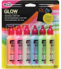 glow paint tulip 3d fashion paint 1 1 4 ounces 6 pkg glow joann