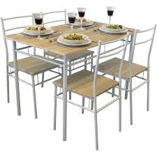 5 piece kitchen dining table u0026 chair set white