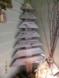 rustic wood christmas tree christmas decor ideas