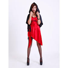 Gothic Womens Halloween Costumes Aliexpress Buy Seseria Gothic Hooded Satin Cloak Women