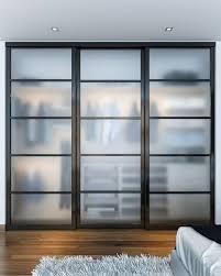closet glass door this reach in closet showcases beautiful closet doors that sit on