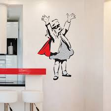 banksy wall sticker supergirl superhero vinyl mural v c banksy wall sticker supergirl superhero vinyl mural decal
