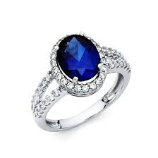 engagement rings with blue stones white gold blue cz ring ejrg1322