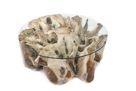 Wohnzimmertisch Kirschholz Tische Aus Einer Baumwurzel Der Tischonkel
