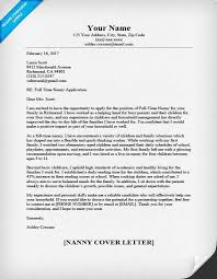 nanny cover letter sample u0026 writing tips resume companion