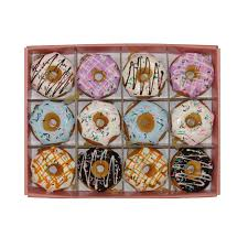 kurt adler set of twelve 2 75 in donut ornament d2987 the home