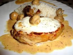 cuisiner cote de veau côtes de veau mozzarella crème chignons recette ptitchef