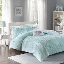 aqua ruffle comforter beautiful light aqua blue pink purple ruffle polka dot girls soft