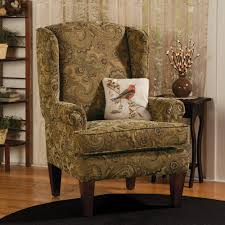 Wing Chairs For Living Room by Furniture Wonderful Wingback Chair In Floral Pattern With Brown