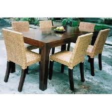 Dining Table With Rattan Chairs Rectangular Mahogany Dining Table And Rattan Chair For Hotel
