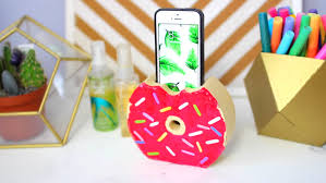 diy phone charger how to make a donut phone charger holder craftsonfire
